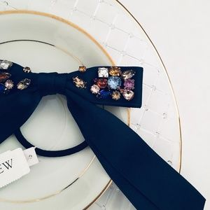 NEW J. Crew Navy Embellished Jewel Hair Tie
